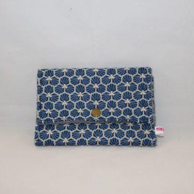 étui à Savon Et Shampoing Solide Motif Origami Bleu Marine