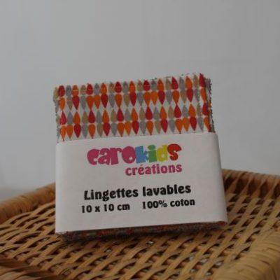 Lingettes Lavables Motifs Gouttes De Pluie