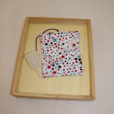 Pochon Cup Menstruelle étoiles Multicolores