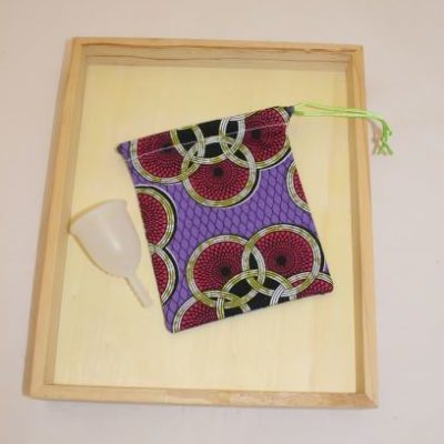 Pochon Cup Menstruelle Esprit Wax Violet Prune