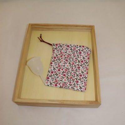Pochon Cup Menstruelle Petites Fleurs
