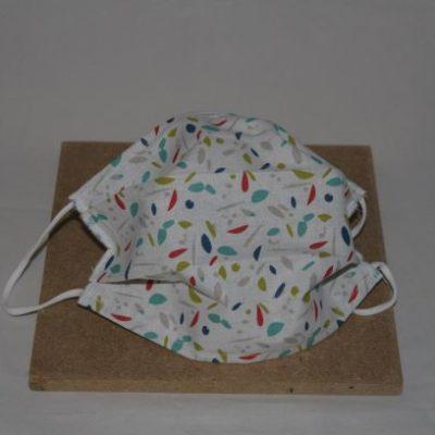Masque En Tissu Lavable Taille Adulte Motifs Feuilles Multicolores