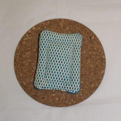 éponge Grattante Lavable Zéro Déchet Couleur Bleu