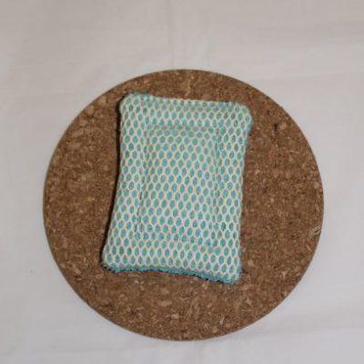éponge Grattante Lavable Zéro Déchet Couleur Turquoise