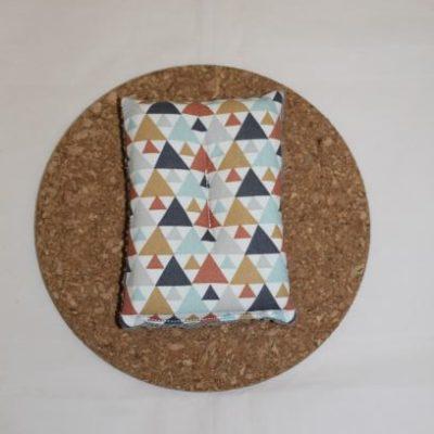 éponge Lavable Zéro Déchet Motifs Triangles Colorés