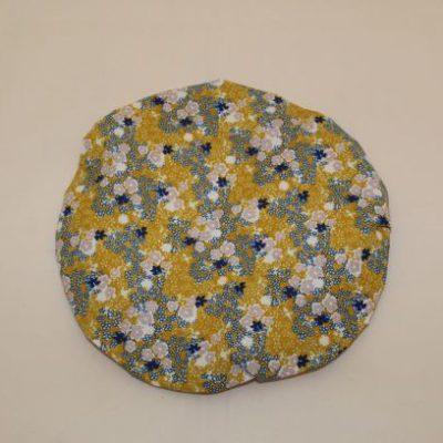 Charlotte Couvre Plat Taille L 28.5 Cm Motifs Fleurs Esprit Liberty Moutarde