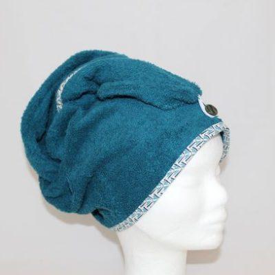 Serviette Cheveux Couleur Bleu